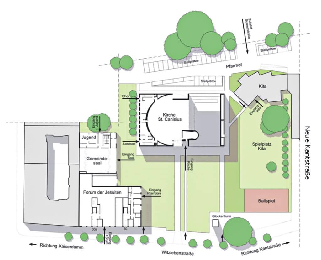 Lageplan St. Canisius