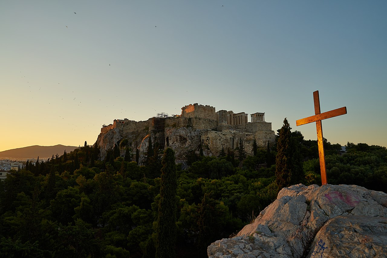 The_wooden_Christian_cross_on_the_Areopagus